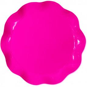 Prato 30cm Rosa Choque