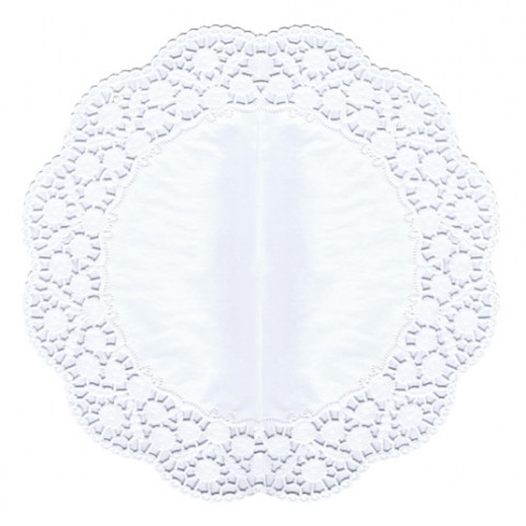 6 Naperons Brancos 36cm