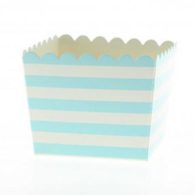 Pacotes Pipocas Riscas Azuis P
