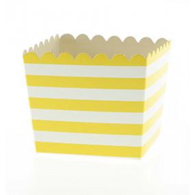 Pacotes Pipocas Riscas Amarelas P