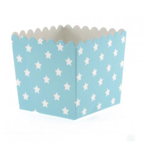 Pacotes Pipocas Azuis Estrelas P