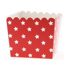 Pacotes Pipocas Vermelho Estrelas P