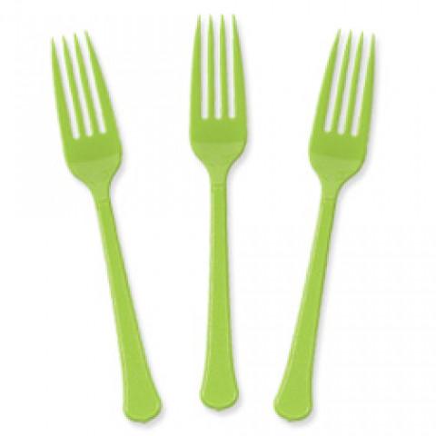 10 garfos Verde Alface