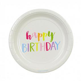 Pratos Happy Birthday Cores