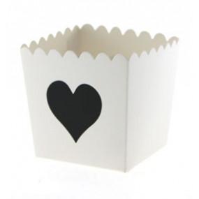 Pacotes Pipocas Coração Preto P
