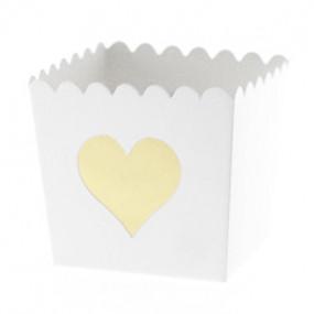 Pacotes Pipocas Coração Dourado P