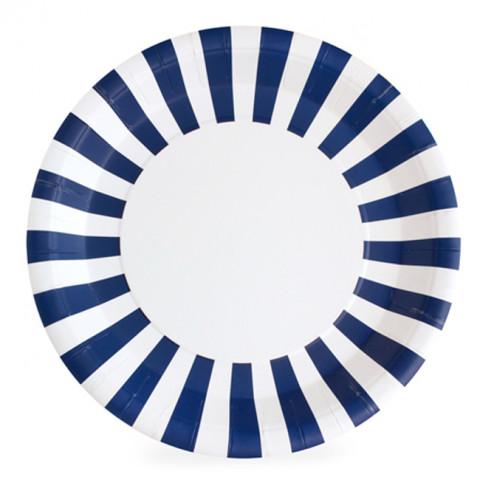 Pratos Riscas Azuis