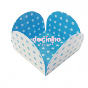 Bases Doces Azuis bolinhas 2 faces - conj.10