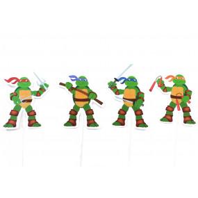 4 Toppers Tartarugas Ninja