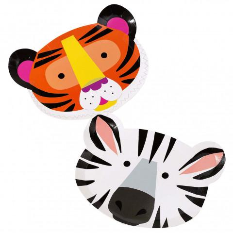 Pratos Tigre e Zebra
