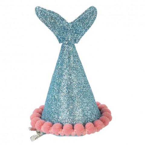 Mini Chapéu Sereia Azul