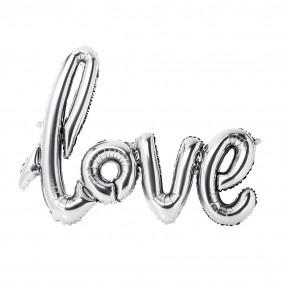 Balão Love Prata