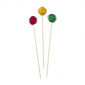 Toppers Palito Pompons