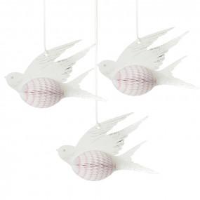Conj. 3 Pássaros Decorativos