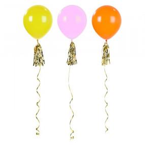 Conj. 3 balões Néon 91cm e Tassel