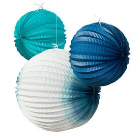 Bolas Papel Azul Tie Dye