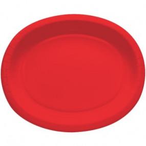 Travessas Oval Vermelho Conj.8