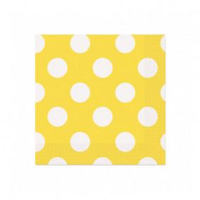 Guardanapos Bolas Amarelo P.
