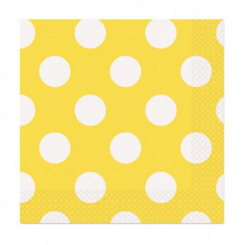 Guardanapos Bolas Amarelos