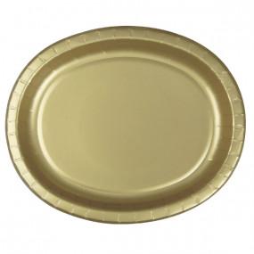 Travessas Oval Dourado Conj.8