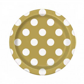 Pratos Dourados Bolas