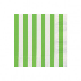 Guardanapos Verde Riscas P