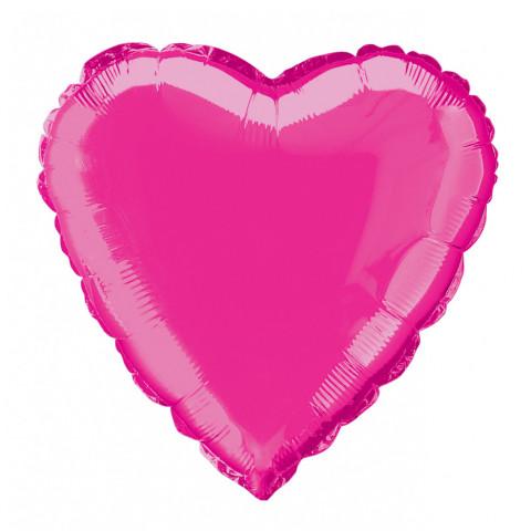 Balão Coração Rosa Forte 46cm