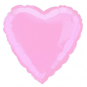 Balão Coração Rosa 46cm