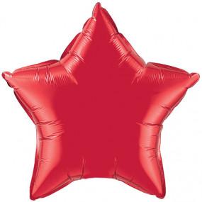 Balão Estrela Vermelha 50cm