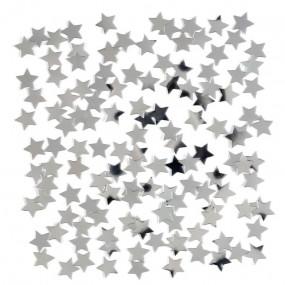 Confetis Estrelas Prateadas