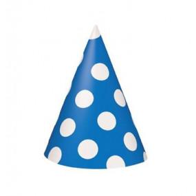 Conj. 8 Chapeus Azuis bolas