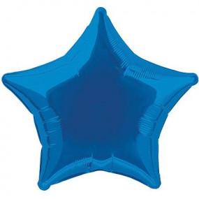Balão Estrela Azul Royal 50cm