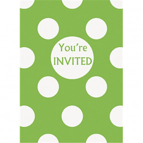 Convites Verde Bolas