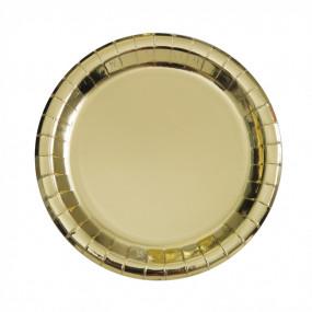 Pratos Dourado Metálico