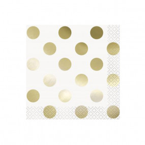 Guardanapos Bolas Douradas