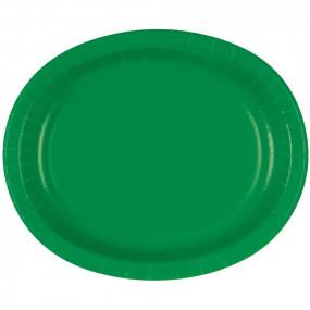 Travessas Oval Verde Conj.8