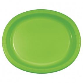 Travessas Oval Verde Alface Conj.8