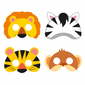 Máscaras Animais Selva