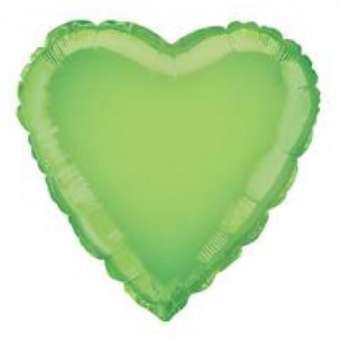 Balão Coração Verde Alface 46cm