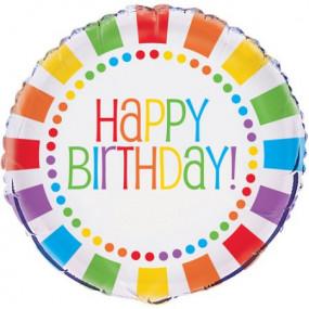 Balão Happy Birthday 45cm