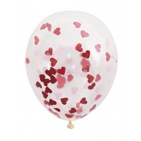 Balões Confetis Corações