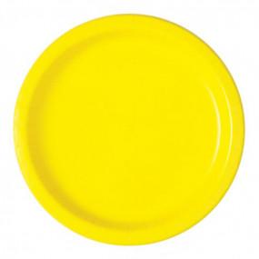 16 Pratos Amarelos 23cm