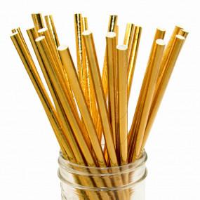 Palhinhas Dourado Metalico