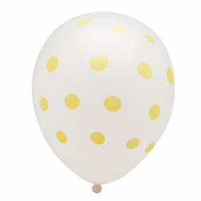Balões Brancos Bolas Douradas