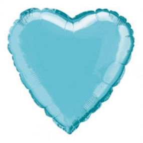 Balão Coração Azul Bebé 46cm