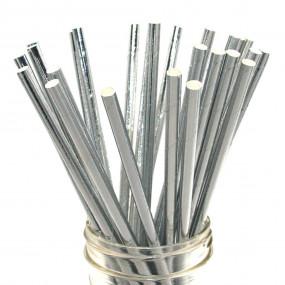 Palhinhas Prata Metalico