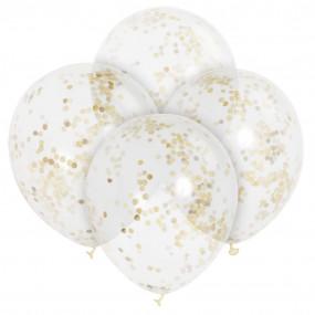 Balões Confetis Dourados