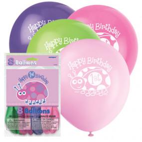 8 Balões 1º Aniv. Joaninha