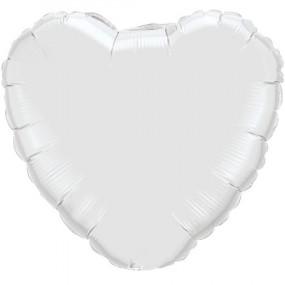 Balão Coração Branco 46cm