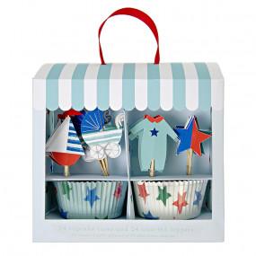 Kit Cupcakes Bebé Azul